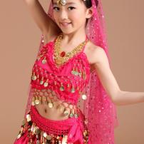 Trang Phục Múa Bụng Trẻ Em - Belly Dance Hồng