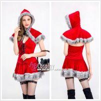 Đầm Cô Bé Quàn Khăn Đỏ Phiên Bản Giáng Sinh