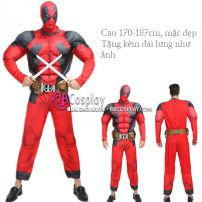 Bộ Đồ Deadpool Độn Cơ Bắp Tặng Đai Lưng
