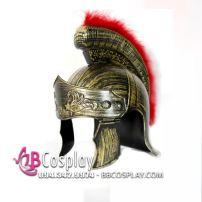 Mũ Chiến Binh La Mã Vàng Đồng Có Lông