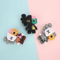 Mô Hình Lego Nano HC Magic Kaws - Phiên Bản Nhỏ 2 Màu