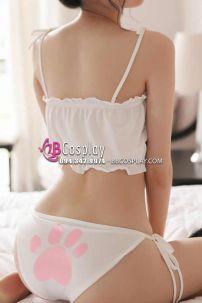 Bikini Cosplay Mèo Trắng Sexy