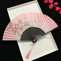 Uchiwa Quạt Vải Nhật Bản Màu Hồng Hoa Đào