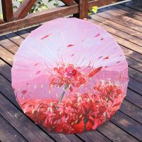 Ô Vải Cổ Trang Hoa Bỉ Ngạn Đỏ Nền Hồng (5)
