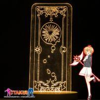 Đèn Ngủ Sakura Clear Card - SNOOZE -Vàng