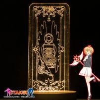 Đèn Ngủ Sakura Clear Card - RECORD -Vàng