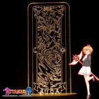 Đèn Ngủ Sakura Clear Card - AQUA -Vàng