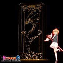 Đèn Ngủ Sakura Clear Card - GALE -Vàng