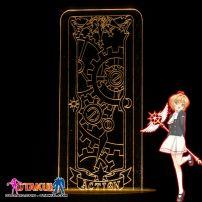 Đèn Ngủ Sakura Clear Card - ACTION -Vàng