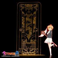 Đèn Ngủ Sakura Clear Card - LABYRINTH -Vàng