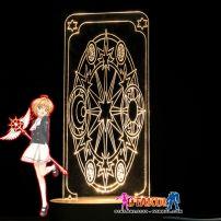 Đèn Ngủ Sakura Clear Card - Mặt Sau -Vàng