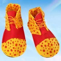 Giày Chú Hề Đỏ Mũi Vàng Chấm Bi