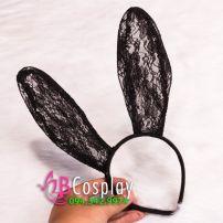 Băng Cài Đầu - Tai Thỏ Vải Rem - Halloween