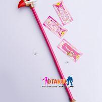 Gậy Sakura Phép Thuật Mỏ Chim Có Thể Tháo Rời 3 Đoạn