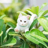 Mô Hình Hoàng Thượng Mèo - Cử Động Được (Trắng)