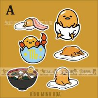 Bộ Sticker Trứng Lười Gudetama